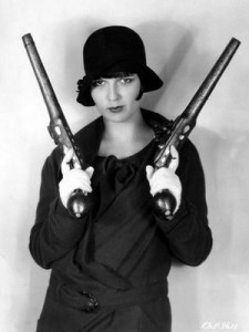 louise brooks with flintlocks
