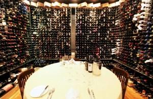 fancy wine cellar