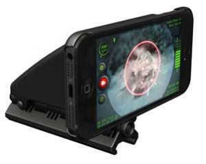intelliscope with cell phone in mount