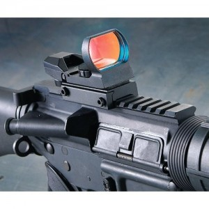 red dot scope on picatinny rail