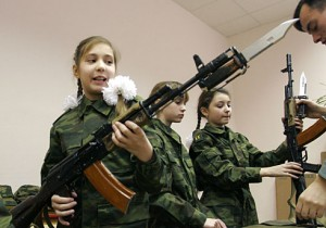 russian girls with aks