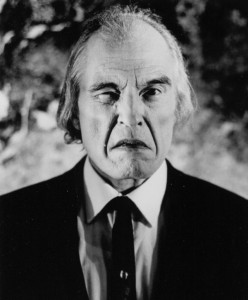 actor angus scrimm scowling