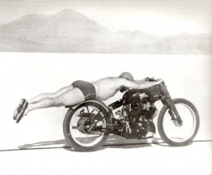 rollie free land speed record on a motorcyle in 1948