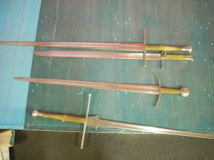 some of the swords used for training