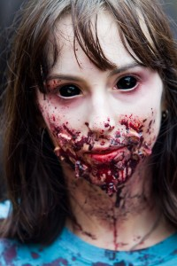 black eyed zombie girl