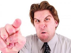 angry man swearing