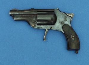 belgian velo dog revolver with trigger deployed