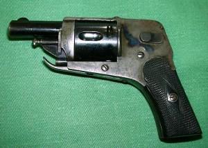 blgian velo dog revolver with trigger folded