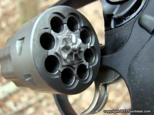 22 caliber revolver cylinder with 8 shots