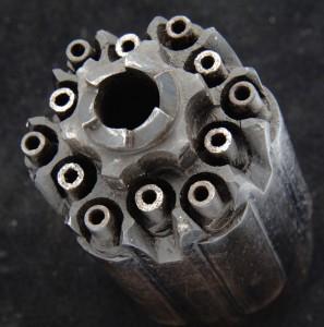 back of a walch revolver cylinder