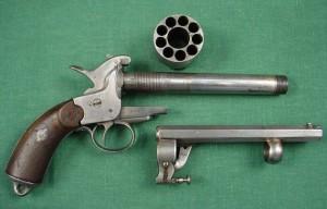 disassembled lemat revolver