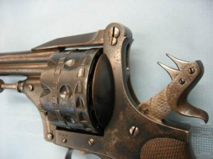 hdh revolver showing the 2 firing pins attached to the hammer