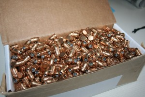 hollowpoint bullets waiting for reloading