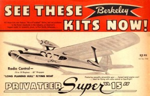 vintage radio control flying boat model