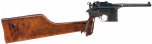 mauser c96 with shoulder stock attached