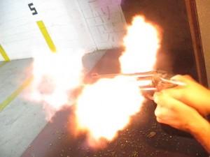 revolver muzzle flash