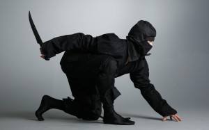 ninja suit with dagger