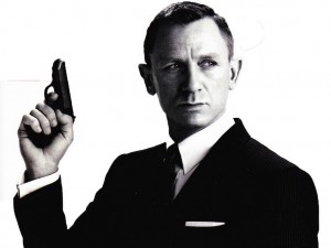 daniel craig as james bond with a walther ppk