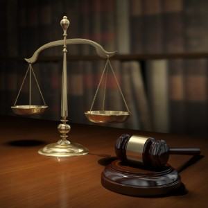 legal scales with gavel
