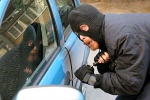 masked car thief