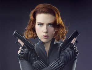 black widow with two glocks
