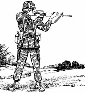 standing rifle stance