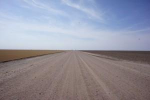 flat kansas road