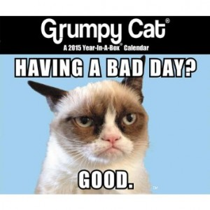 grumpy cat wishing you a bad day calendar