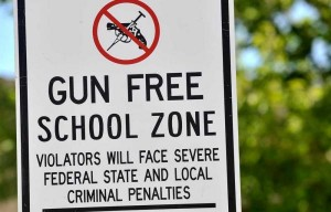 gun free drug free zone sign