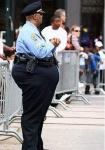 fat security guard