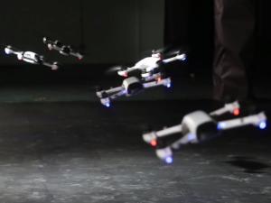 synchronized drones