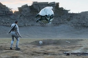 tom cruise movie obivion with cgi alien drone