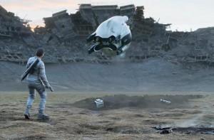 tom cruise movie obivion with cgi alien drone