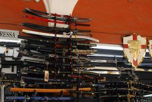 cheap swords on display for sale