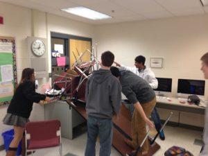 high school kids barricade door