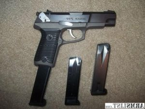 ruger p89 with two standard magazines and one extended